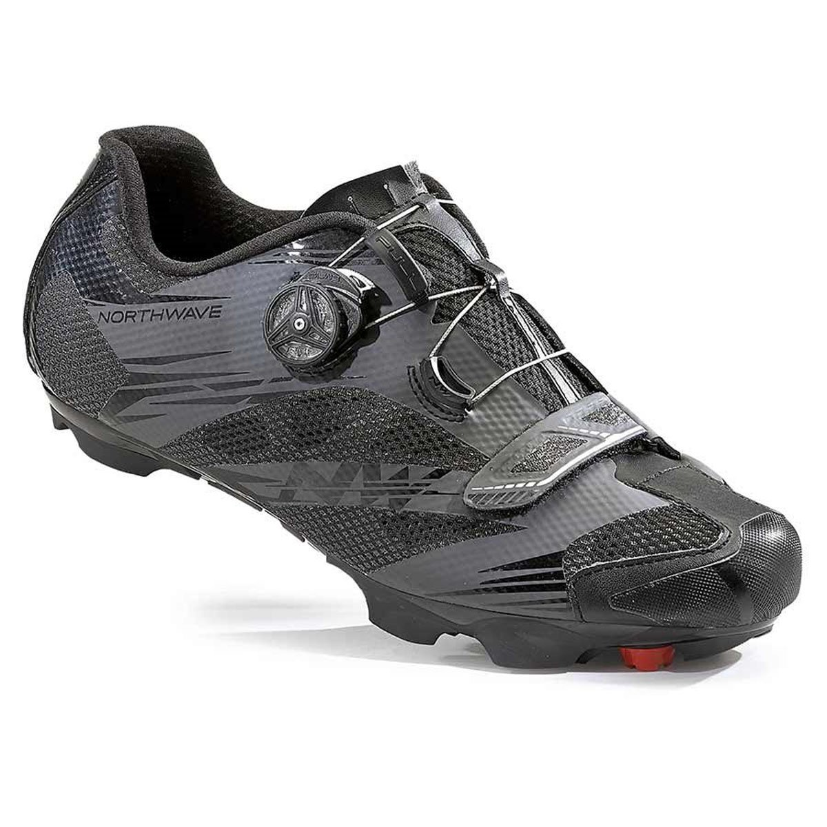 Northwave Man MTB XC Shoes Scorpius 2 Plus Wide Black/Anthracite Grey B01LYCLH0M 7 US