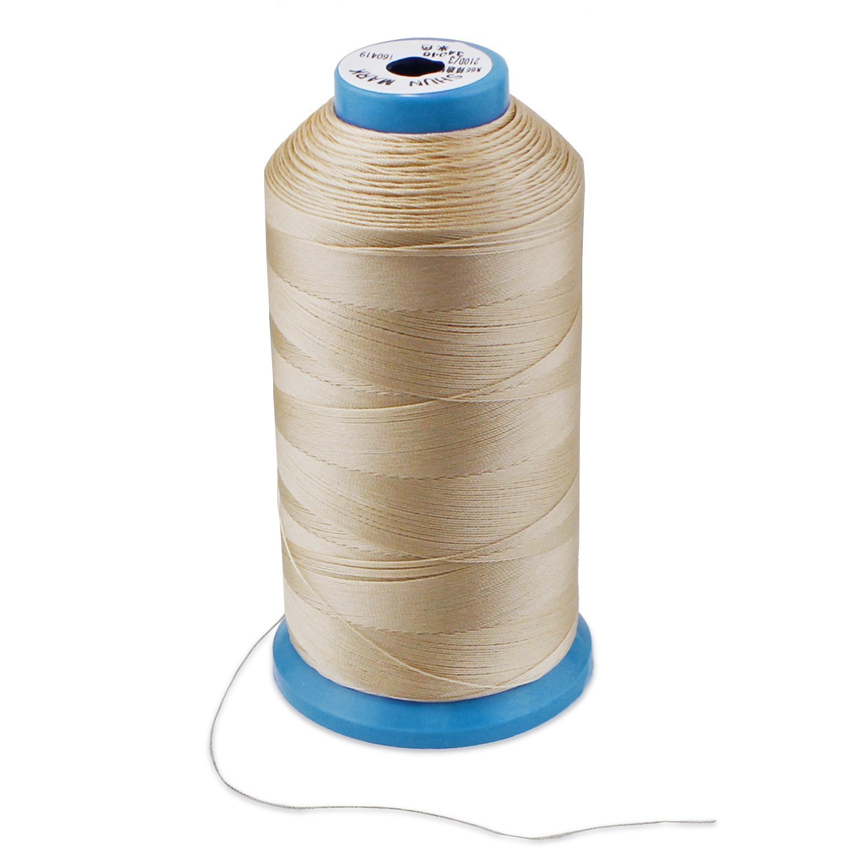 WheateFull Tight Strong Bonded Nylon hilo de coser para exteriores, cuero asientos, bolsas, zapatos, lona, tapicería y máquina de coser costura a mano: ...