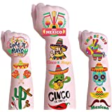 Halloween Temporary Tattoos,Day Of The Dead Temporary Tattoos,Cinco De Mayo Temporary Tattoos Fiesta Party Tattoos Decoration