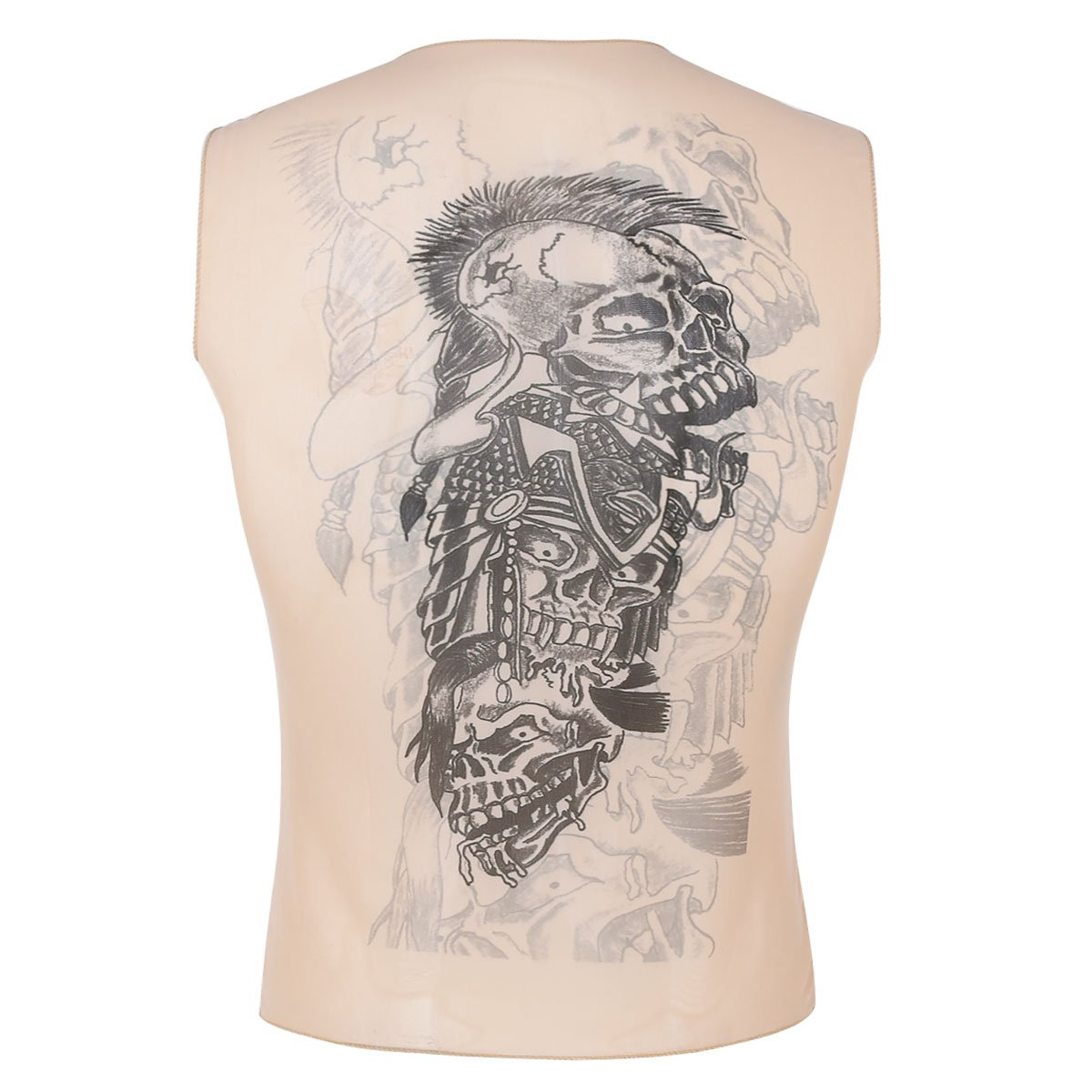 bdc9b3ee Amazon.com: iEFiEL Men's Summer Slim Fit Fake African Tribal Tattoo Print  Sleeveless Vest T-Shirt Tank Tops Nude D One Size: Clothing