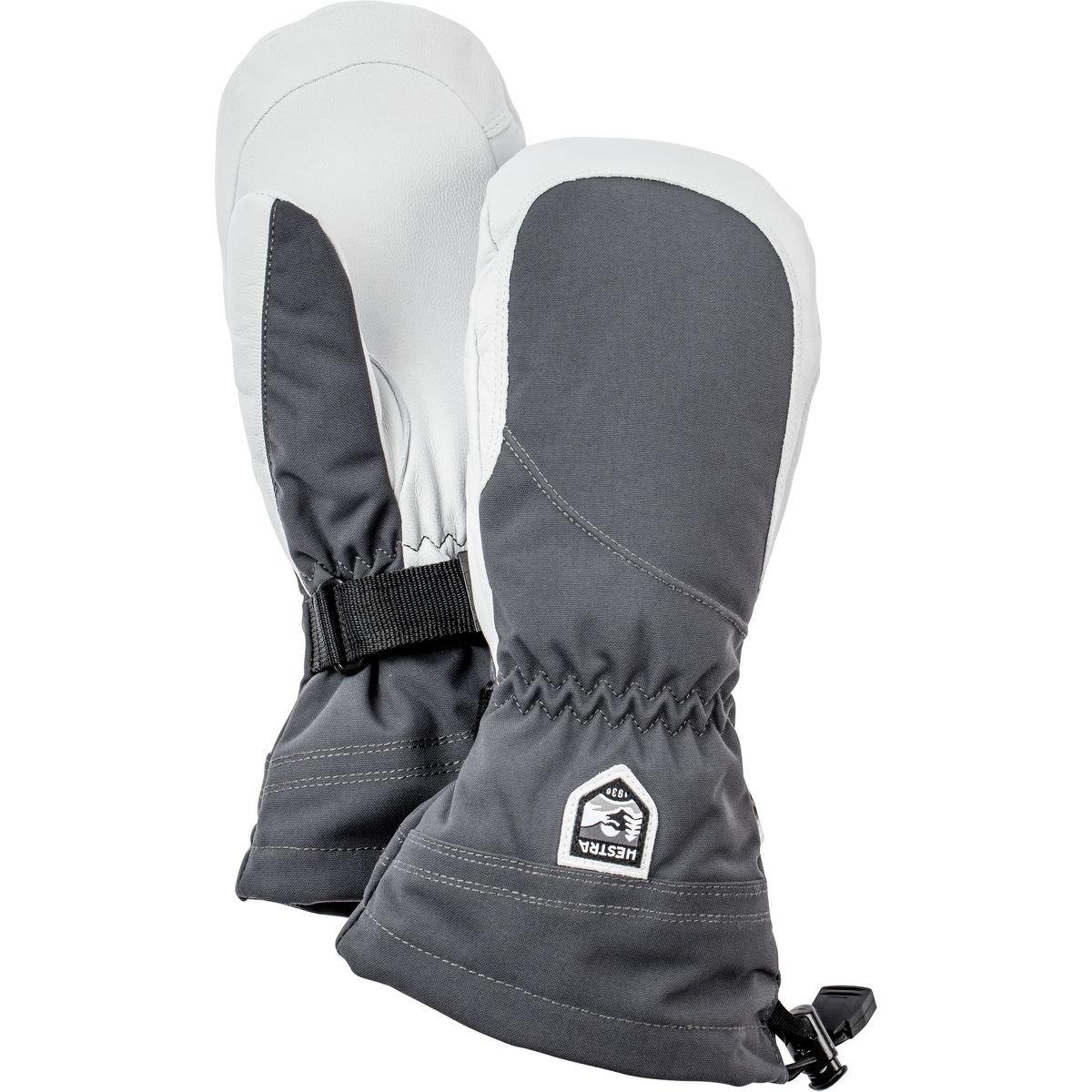 Hestra Women's Heli Mittens, Grey, Size 8