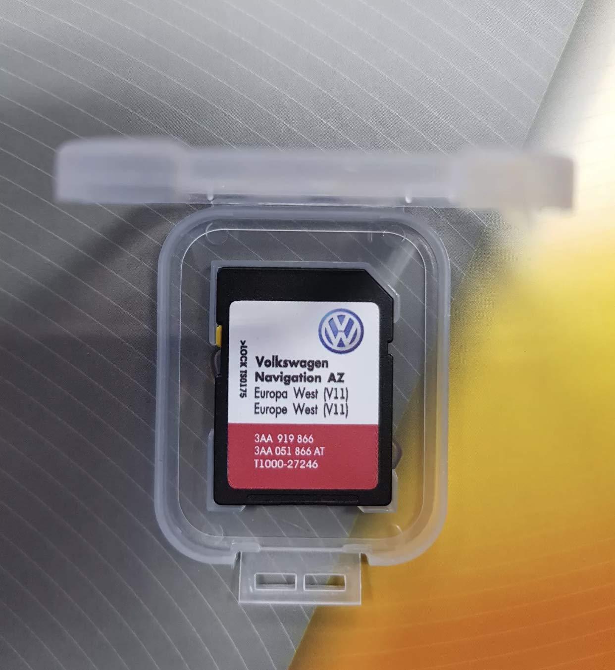 Volkswagen 3AA051866AT Original SD Card Navigation V11 Europe West RNS 315  Navigation System AZ Navigation Software VW Update