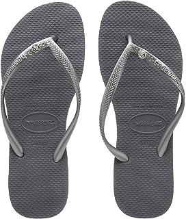 9 Womens Havaianas Slim Crystal Glamour Sw Thongs Rubber Diamond Flip Flop Black