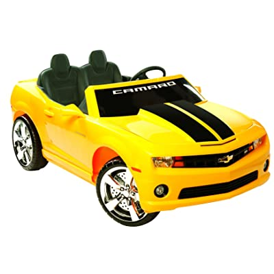 Kid Motorz 12V Two Seater Chevrolet Racing Camaro Ride-On Car, Yellow: Toys & Games