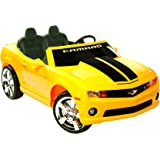 Kid Motorz 12V Two Seater Chevrolet Racing Camaro Ride-On Car, Yellow