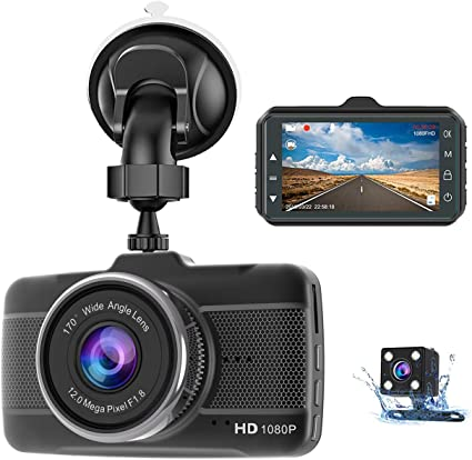 7 Inch  Car DVR Camera Dash Cam HD 1080P Dual Lens Night Vision G-sensor 170°