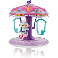 WowWee Fingerlings Playset: Carousel with 1 Fingerlings Baby Monkey