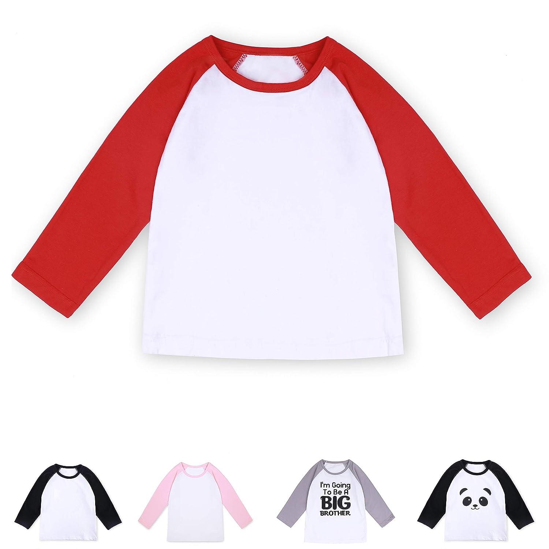 CloudCreator Toddler Baby Girls Boys Long Sleeve Shirts Raglan Shirt Baseball Tee Cotton T-Shirt
