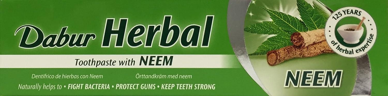 Dabur - Dentifrice aux herbes - au neem - lot de 3 tubes de 100 g