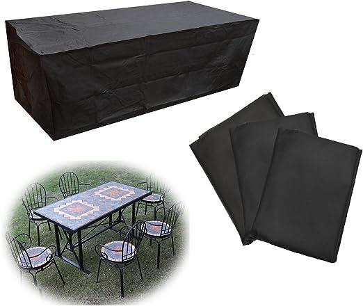 LaDicha Jardín Al Aire Libre Muebles Impermeables Conjunto Cubierta Mesa Banco Cubo Polvo Lluvia Protector - S: Amazon.es: Hogar