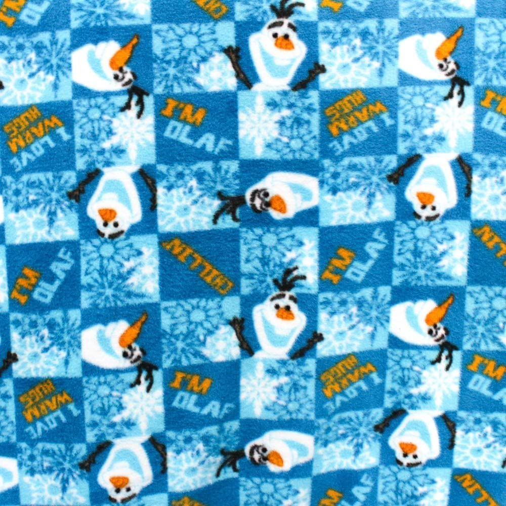 Great for Quilting, Throws, Sewing, Craft Projects, Wall Hangings, and More Frozen Olaf Love Warm Hugs Fleece Fabric Officially Licensed 1 Yard 1 Yard x 60