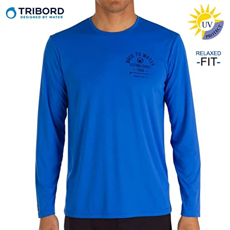 8a6715f3fdb4 Buy Tribord Men s Sun Protection UPF 50+ Swim T-Shirt (Blue