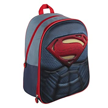 Amazon.com: DC 2100001621 40 cm Superman 3D Effect Suit Backpack (Large) by: Toys & Games