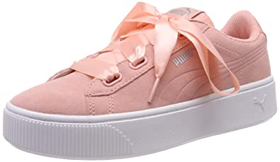 28422455aee Puma Women s Vikky Stacked Ribbon S Low-Top Sneakers  Amazon.co.uk ...