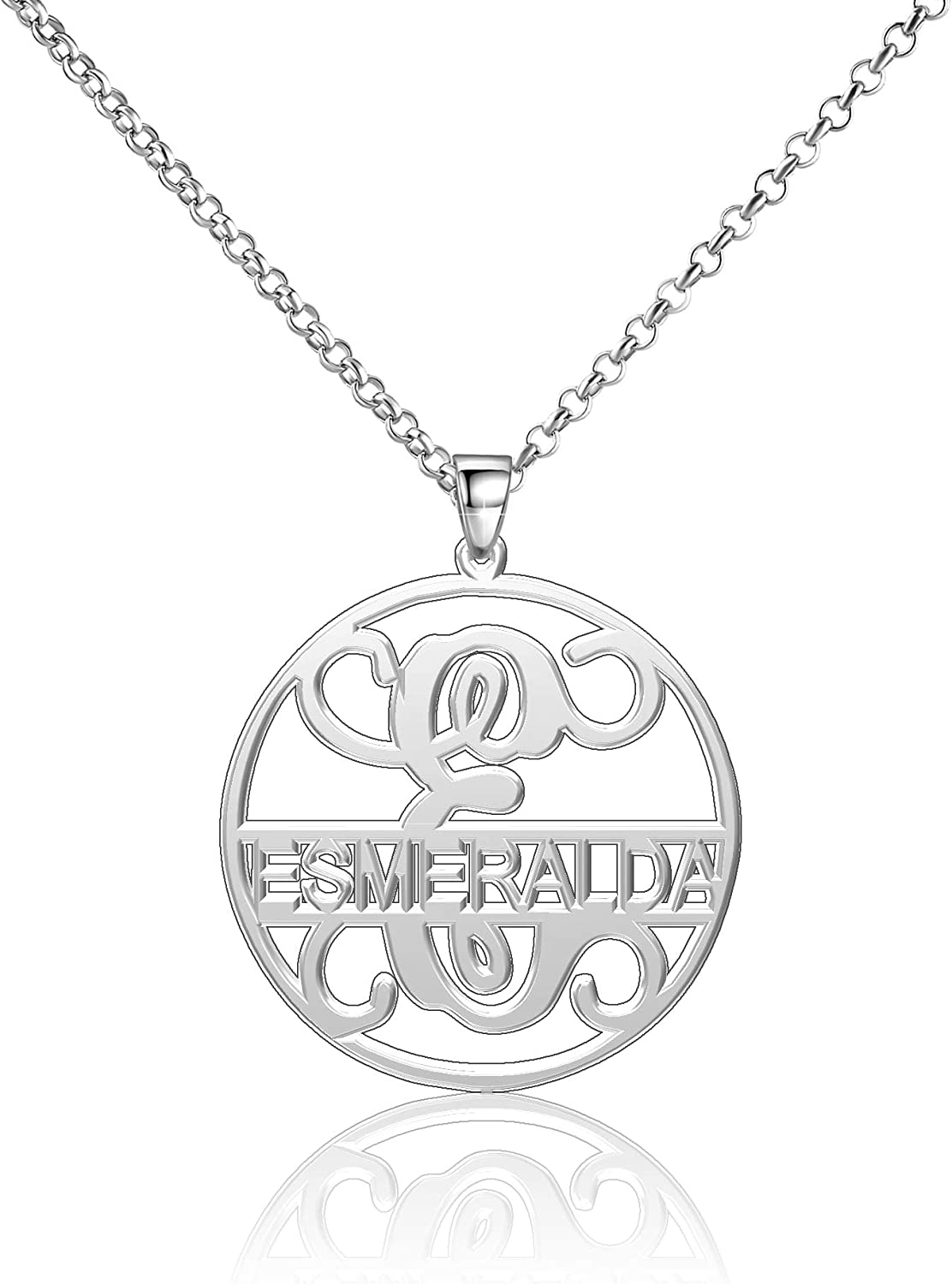 Moonlight Collections Esmeralda Necklace Name Necklace Sterling Silver