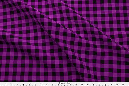 e54cf56b48d Amazon.com: Spoonflower Purple Plaid Fabric Purple Buffalo Plaid by ...