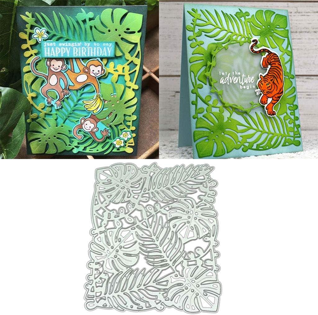 Banana Leaf DIY Metal Cutting Dies Stencil Scrapbooking Album Stamp Paper Card Art Crafts Decor Christmas Die Cuts Metal Cutting Dies Stencil