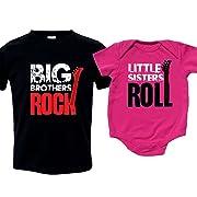 Sister Brother Matching Sibling Shirt Set, Includes Small (6-8) & 0-3 mo