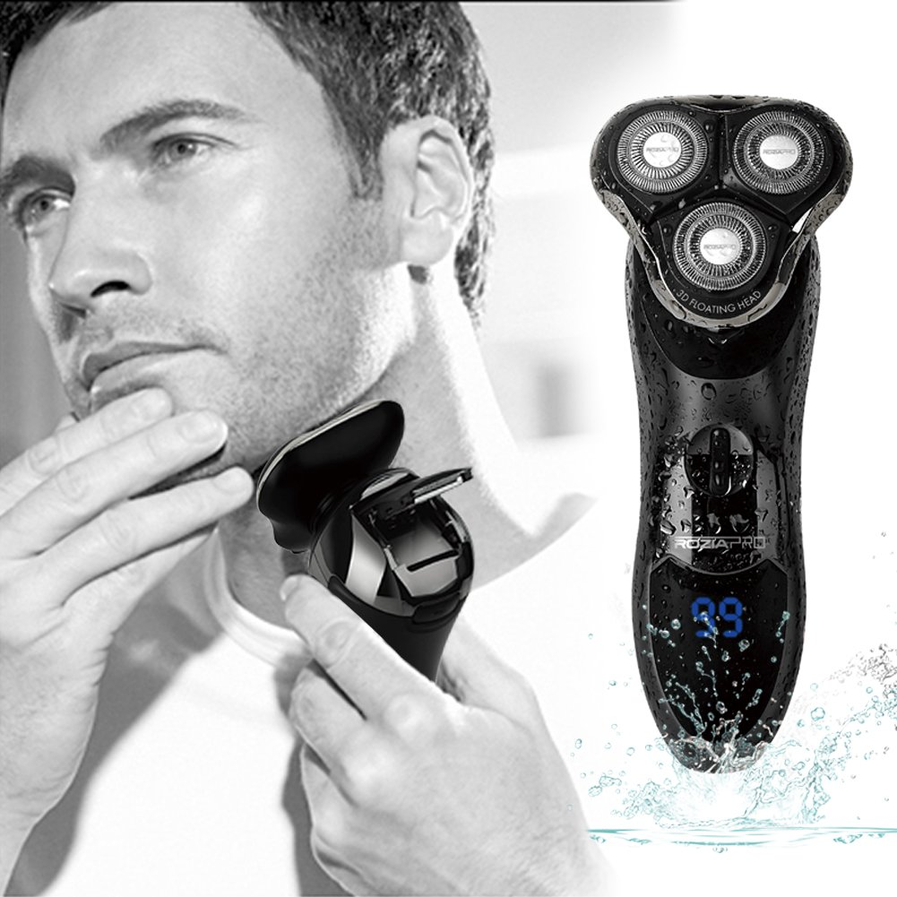 5 In 1 Electric Razor for Men, Cordless Waterproof Rotary Shaver Beard Trimmer Nose Trimmer
