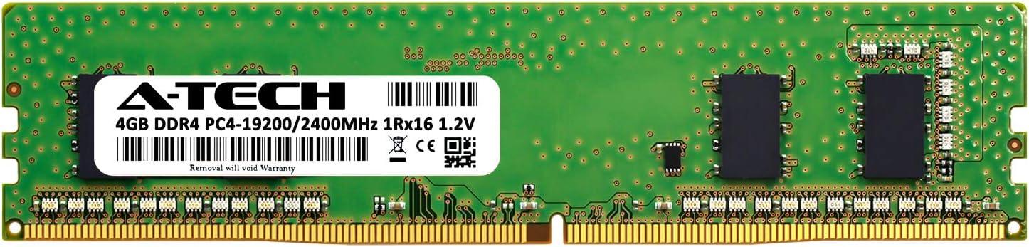 PC4-19200 Non-ECC Unbuffered DIMM 288-Pin 2Rx8 1.2V Dual Rank Computer RAM Upgrade Sticks A-Tech 32GB DDR4 2400MHz Desktop Memory Kit AT8G4D4D2400ND8N12V 4 x 8GB