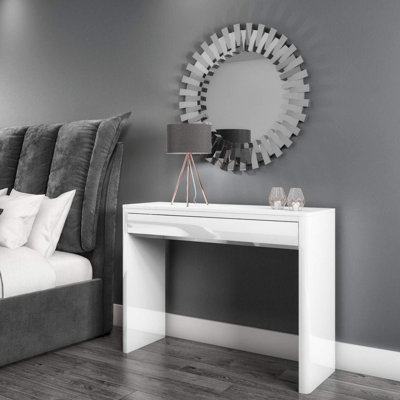 Lexi White High Gloss Dressing Table - 12 Drawer - Modern Design