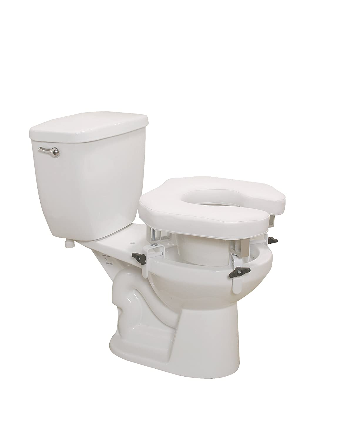 black padded toilet seat. Amazon com  Drive Medical Padded Raised Toilet Seat Riser Standard Health Personal Care