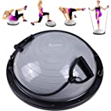 Sportneer Half Balance Ball Balance Board with Resistance Bands Balance Trainer with Pump for Core Ab Training Yoga Home Fitn