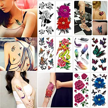 Amazon Com Cokohappy Temporary Tattoos For Women Teens Girls 8