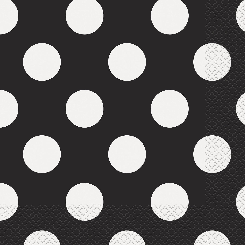 Black Polka Dot 12 oz Hot//Cold Cups 6 ct