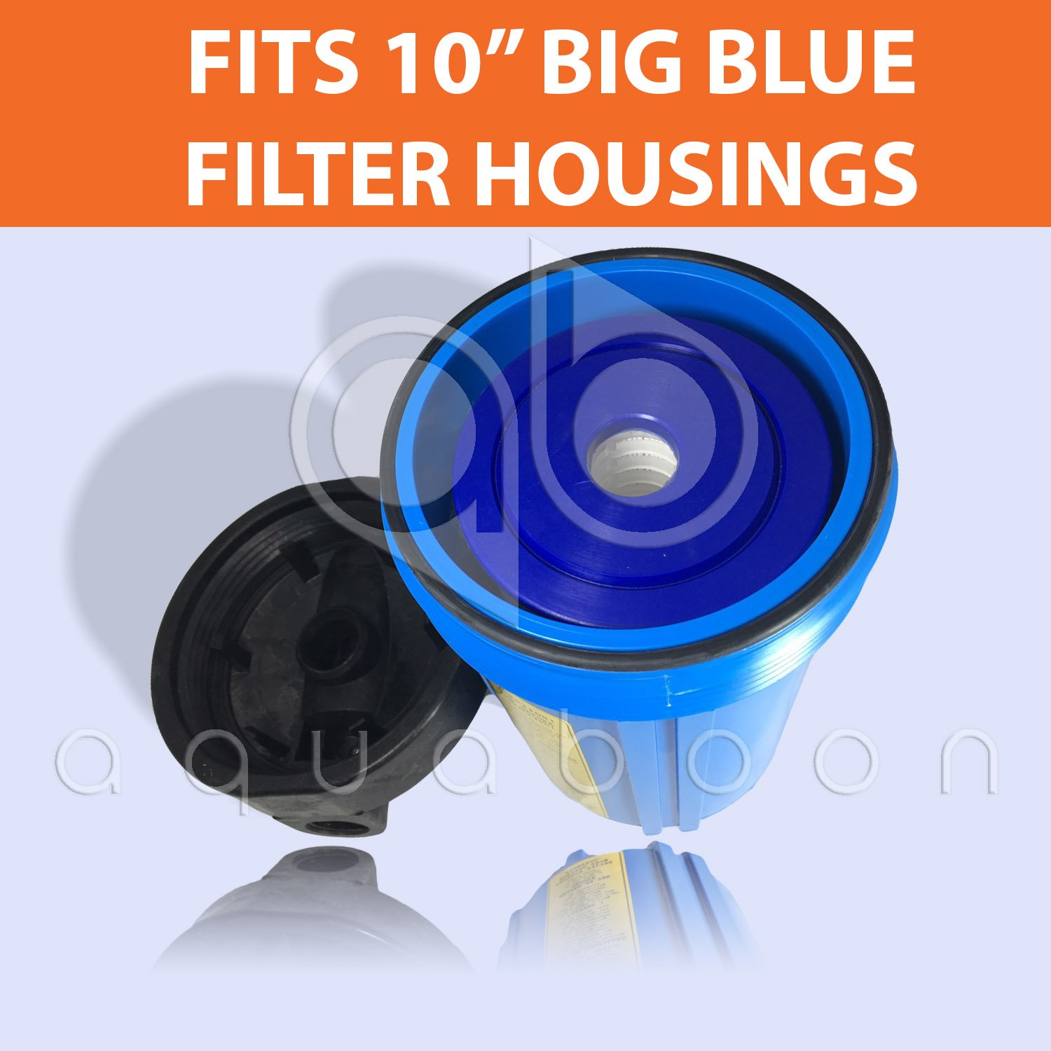 FM-BB-10-1A ECP1-BB WPC1FF975 Whole House Sediment Filtration Aquaboon 1 Micron 10 Big Blue Pleated Sediment Water Filter Replacement Cartridge Compatible with FM-BB-10-1 6-Pack HDC3001