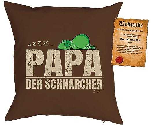 Father regalo para Papa Cojín con relleno y Escrituras ZZZZ ...