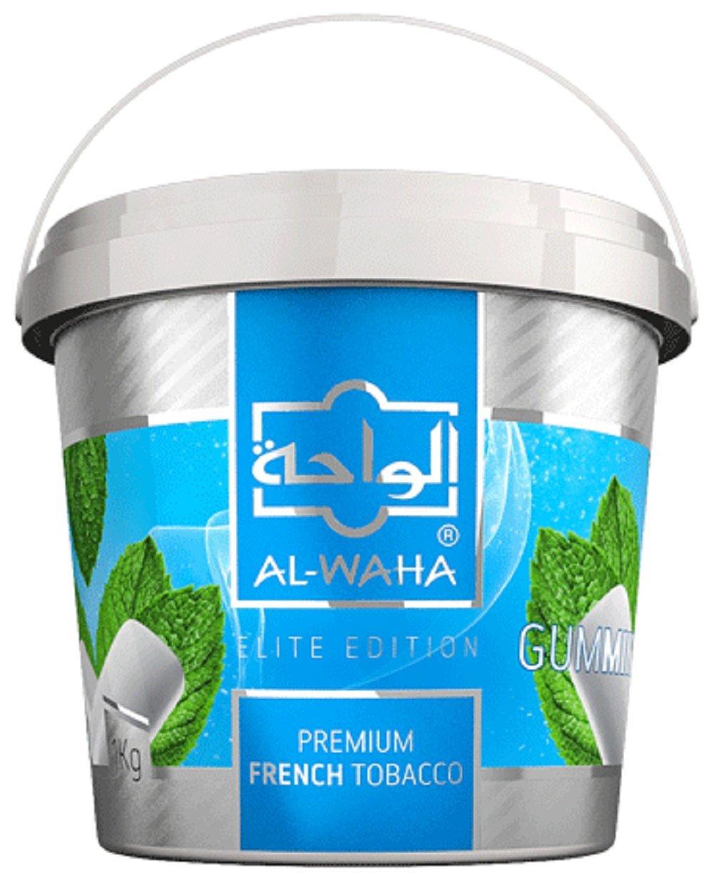 Al Waha Elite Edition Shisha Molasses Premium Flavors 1000g/1kg for Hookah (Gum Mint)