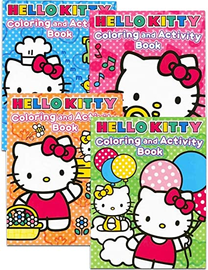 Amazon Com Hello Kitty Coloring Books Bundle Set Of 4 Toys Games