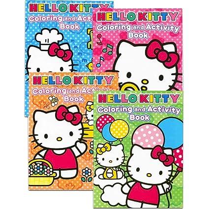 Hello Kitty Coloring Books Bundle Set Of 4