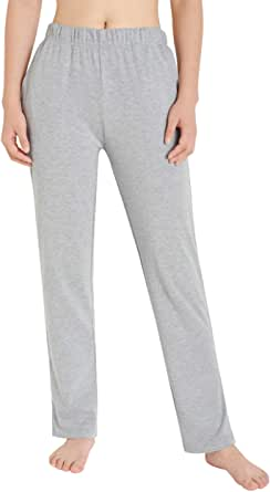 Weintee Women's Cotton Sweatpants Knit Pants with Pockets