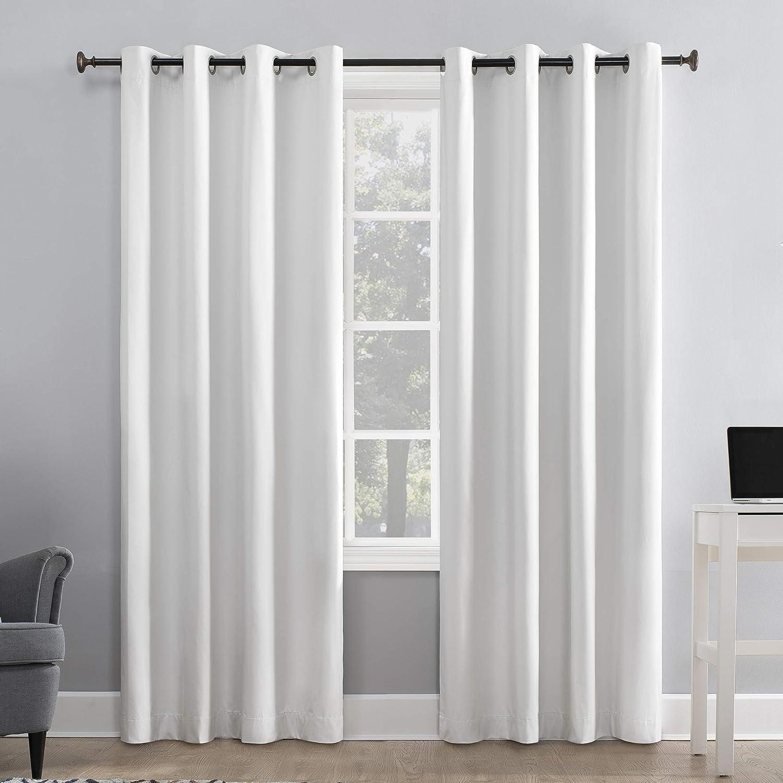 Sun Zero Duran Thermal Insulated 100 Blackout Grommet Curtain Panel 50 X 84 White Home Kitchen