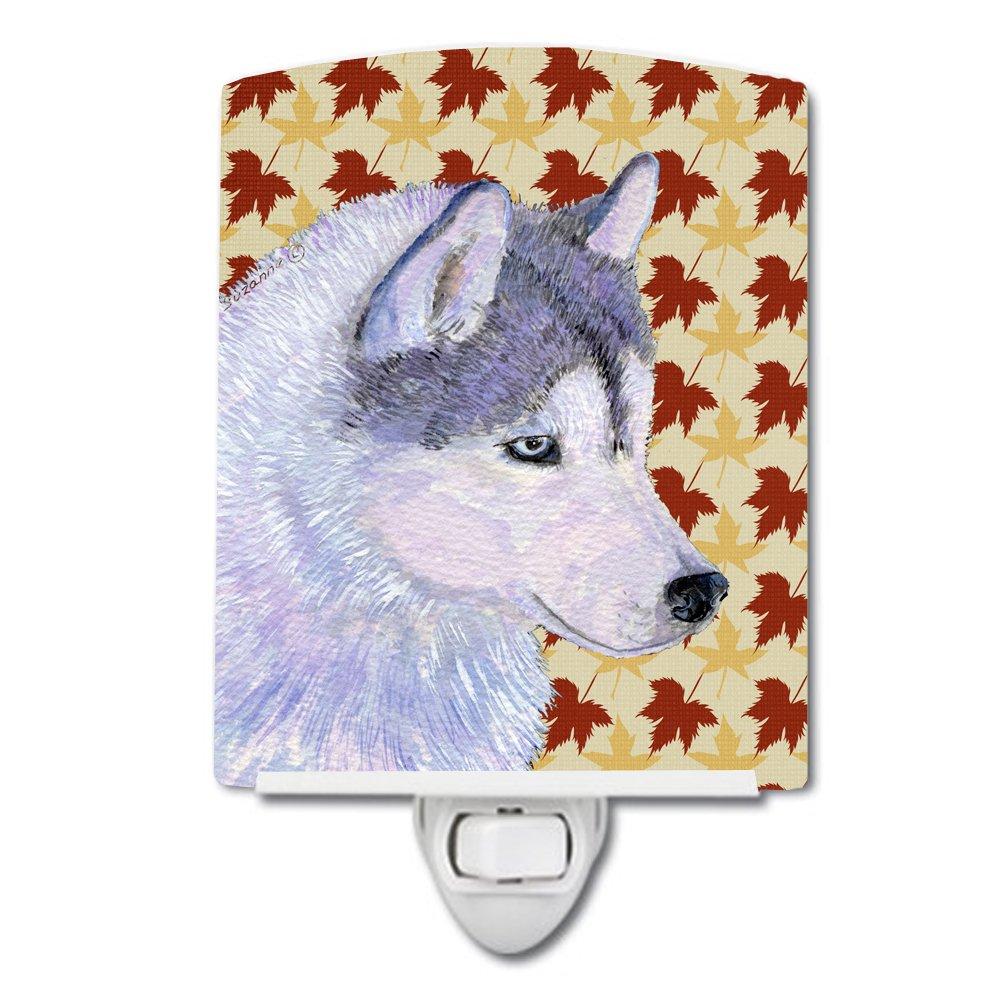 Caroline 's Treasures Siberian Husky Fall Leaves Portraitナイトライト、6