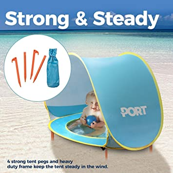 PORT 3 In 1 Beach Baby Tent For UV Sun Protection | Pop Up Compact  sc 1 st  Amazon.com & Amazon.com: PORT 3 In 1 Beach Baby Tent For UV Sun Protection ...