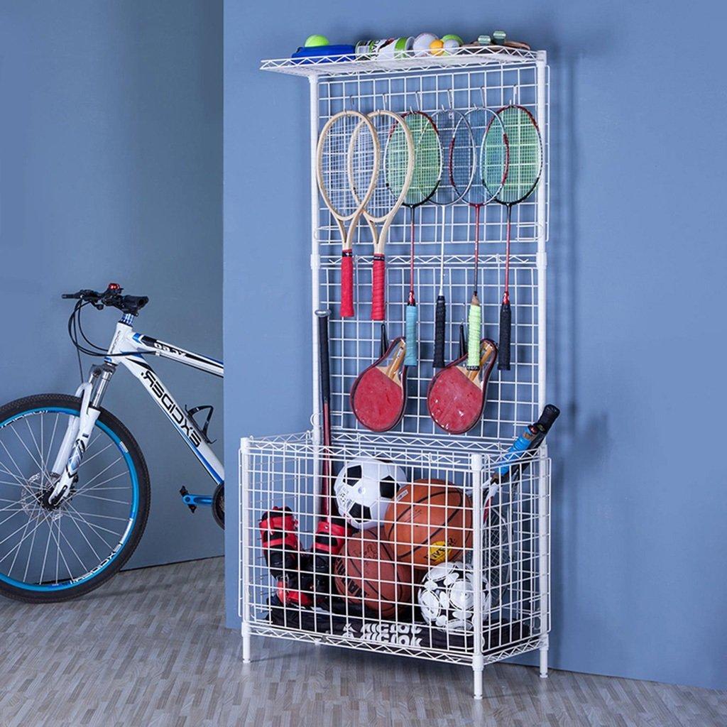 Spielzeug-Lagerregal-Gitter-Regal-Basketball-Speicher-Korb-Kindergarten-Sportgeräte-Gestelle (Farbe : A) LIUTAO