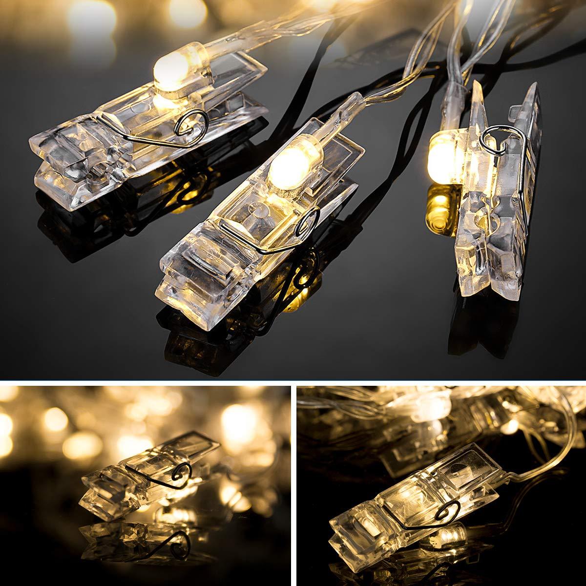 5m 40 clip lights 2.40watts 4.50volts Foto clip luci LED White