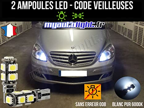 Pack de bombillas LED, color blanco xenon, para Mercedes Clase A W169