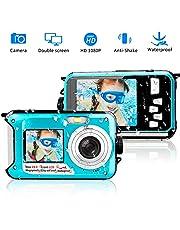 Unterwasserkamera 1080P Full HD Digitalkamera Wasserdicht 24 MP Videorecorder Selfie Camcorder Kamera Dual Screen DV Wasserdichte Kamera