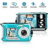 Appareil Photo Etanche Full HD 1080p Camescope Numerique 24 MP Enregistreur Vidéo Selfie Caméscope Double écran DV Enregistrement Appareil Photo Numérique