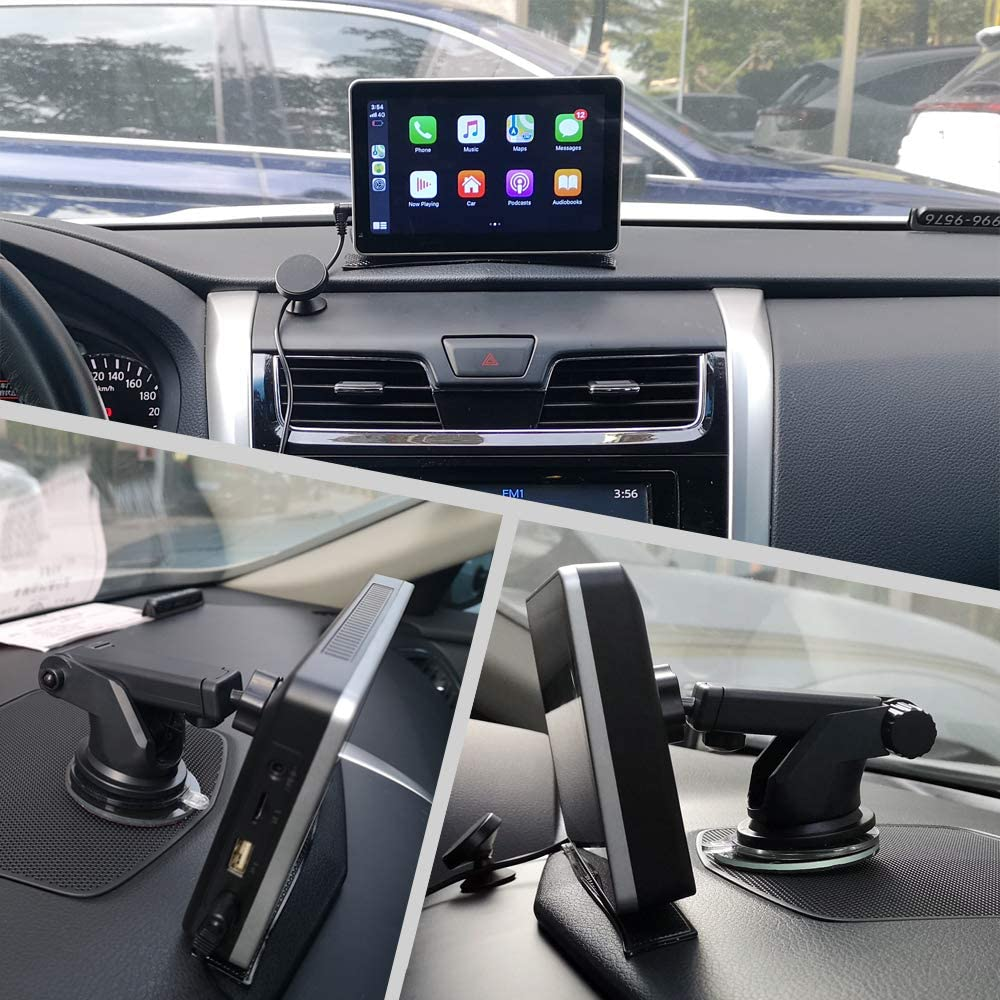 Road Top Newest Wireless Apple Carplay Wired Android Auto Car Multimedia Player 7 LCD Touchscreen Monitor Bluetooth Navigation System Real Plug and Play Device