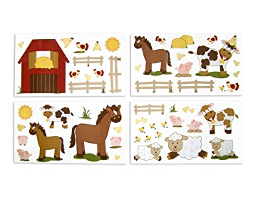 NoJo Farm Babies Wall Decals (Discontinued by Manufacturer)  sc 1 st  Amazon.com & Amazon.com: NoJo Farm Babies Wall Decals (Discontinued by ...