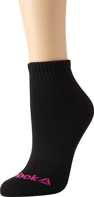 12 Pack Reebok Girls Athletic Arch Compression Cushion Comfort Quarter Cut Socks