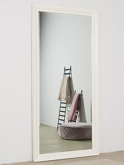 Specchio da parete bianco 190 x 90 cm specchio con cornice elegante ...