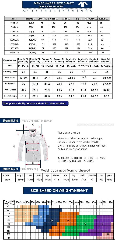 Mens Shirt Long Sleeve 100/% Cotton Dress MC256 X-S