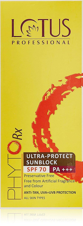 gods grace Lotus Professional Phyto Rx Ultra Protect Sunblock SPF 70 PA+++, 50g