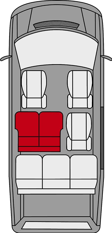 Autositzbez/üge aus Polyester Walser 10457 Sitzbez/üge f/ür VW T5 Doppelbank hinten ma/ßgefertigt ab Baujahr 04//2003-06//2015
